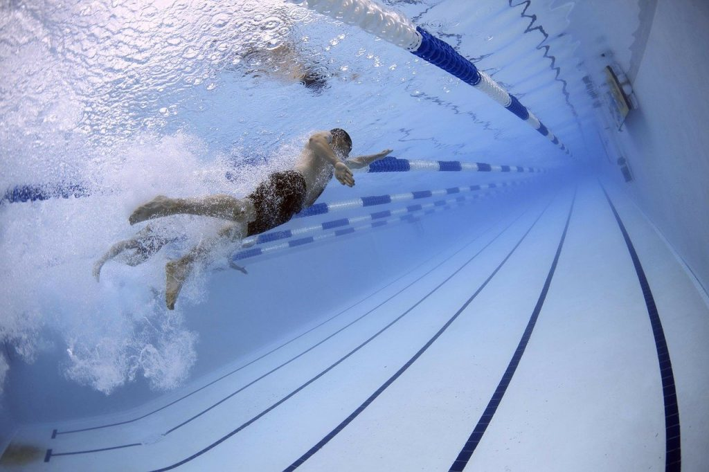 swimmers, swimming, pool